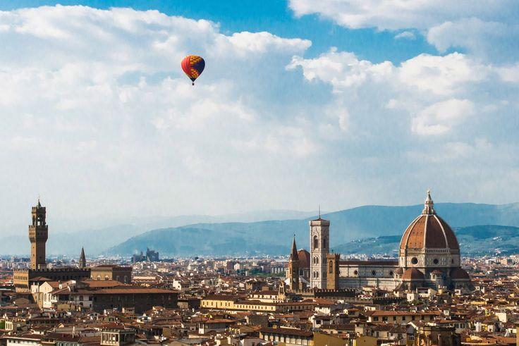 Experience the best view of Tuscany with a hot air balloon over Florence and the rolling hills. Photo by: Robert Trandafir