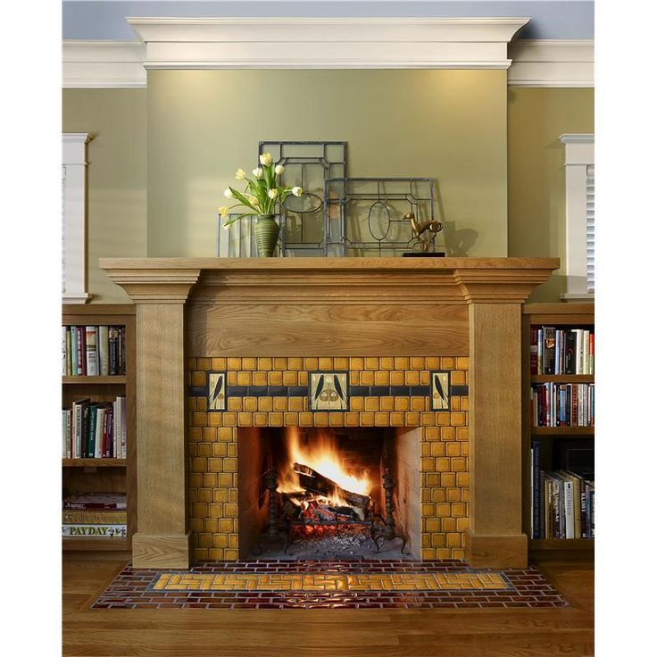 Craftsman Home Interiors for Your Ideal Home : Songbird Fireplace By Motawi Tileworks