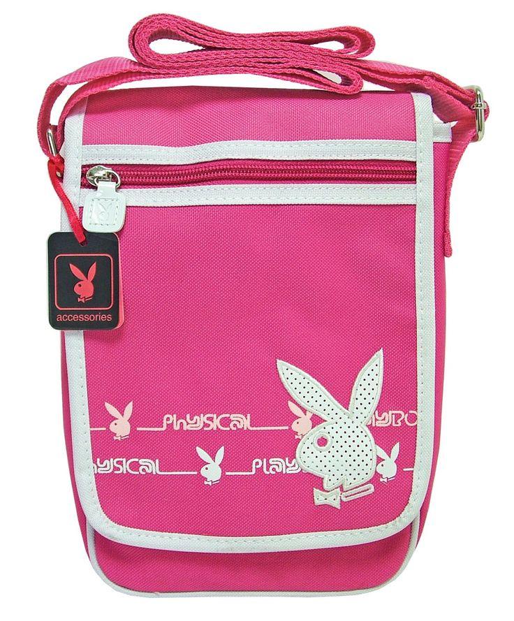Kabelka Playboy Shoulder Bag Pink & White