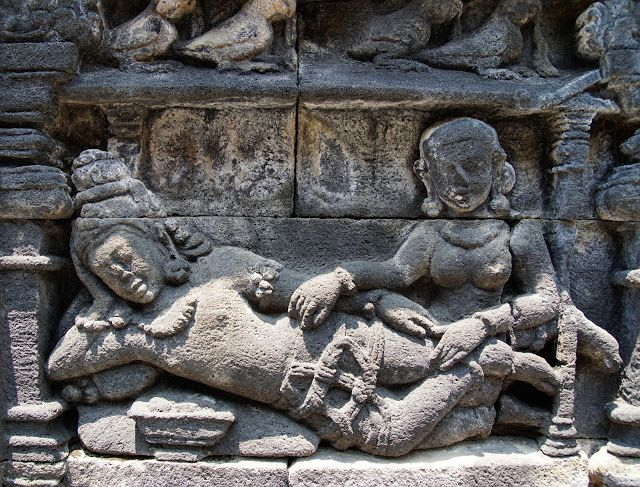 Bas-relief panels, Borobudur, Indonesia