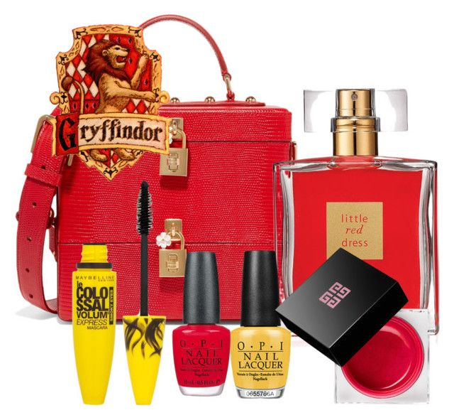 """Gryffindor inspired beauty set"" by hogwartsinspired on Polyvore featuring beauty, Dolce&Gabbana, Avon, Maybelline, OPI and Givenchy"