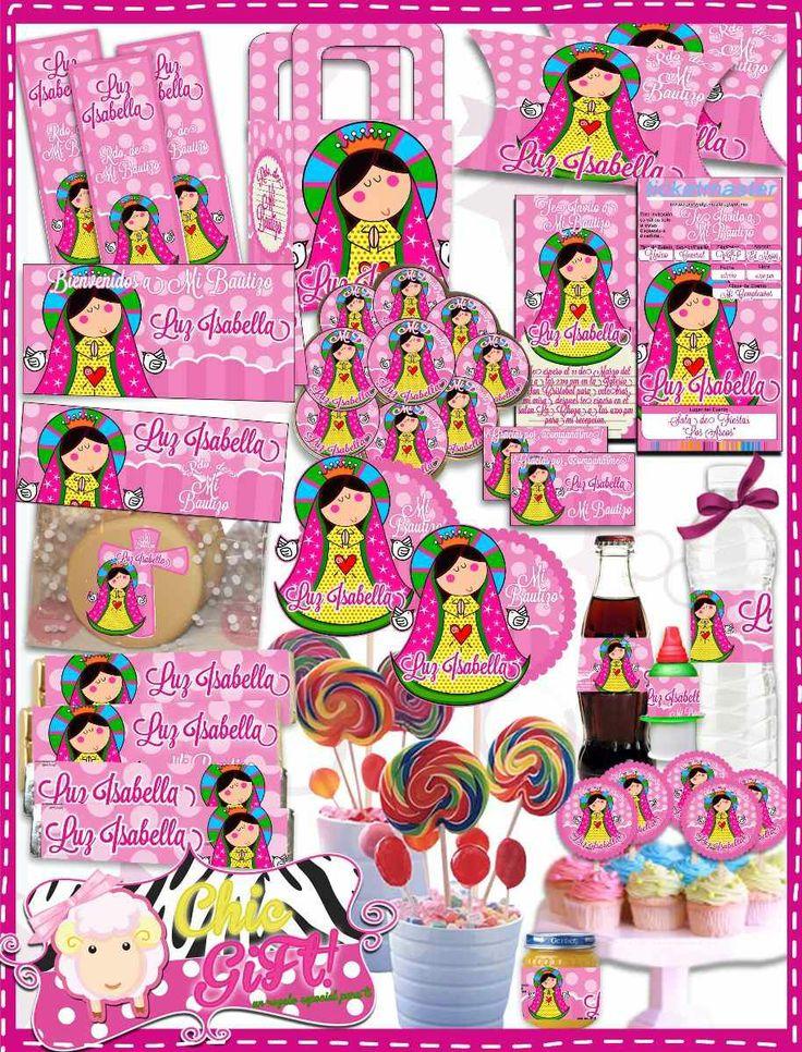 Decoracion Primera Comunion Virgen De Guadalupe ~ Invitaciones Virgencita Plis De Primera Comunion Comunión Picture