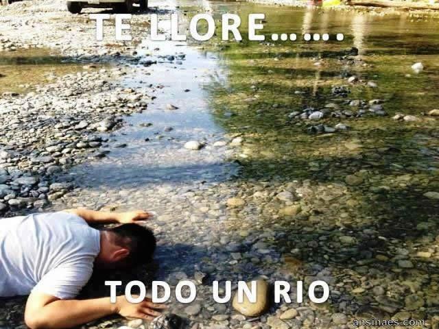 Te llore todo un rio