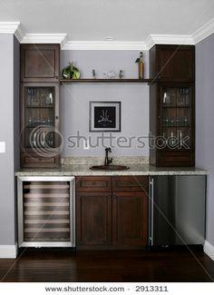Kitchen Shelf Winery Cabinets