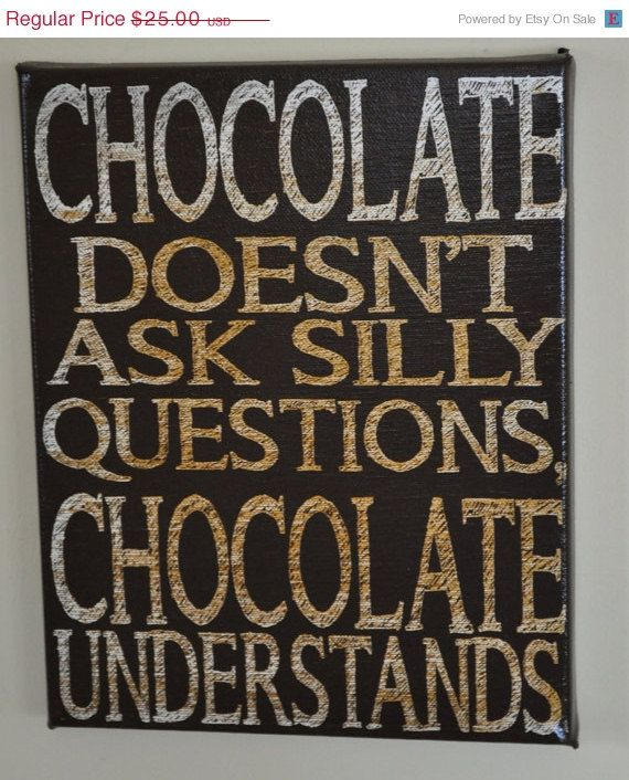 Star-Spangled SALE Chocolate Understands - Unique Canvas Art, wall decor, for Home, Office, Dorm, Kitchen,  Family wall art on Etsy, $18.75