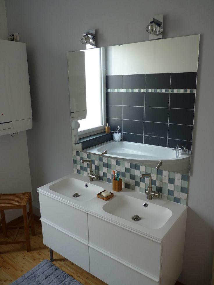 52 best salle de bain images on Pinterest Bathroom, Bathrooms and - ikea meuble salle de bain godmorgon