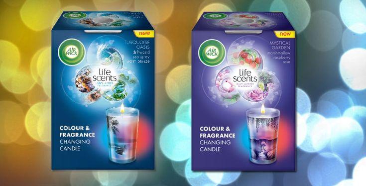Air Wick® Life Scents™ – den første serie duftlys, hvor duften hele tiden udvikler sig. Ved hjælp af ny teknologi har man for første gang skabt en produktserie til hjemmet, hvor duften hele tiden ændrer sig.