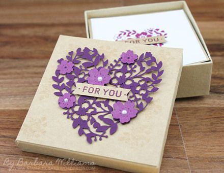 Bloomin' Love Photopolymer Bundle from Stampin' Up! created by Barbara Williams   Card gift set in box
