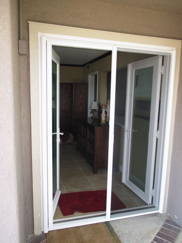 214 best french door stowaway retractable screen doors for Retractable screen door for double french doors