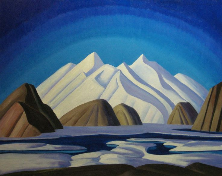 "Lawren Harris, ""Baffin Island"" c 1931 (sold for 10.2 MILLION in 2001)"