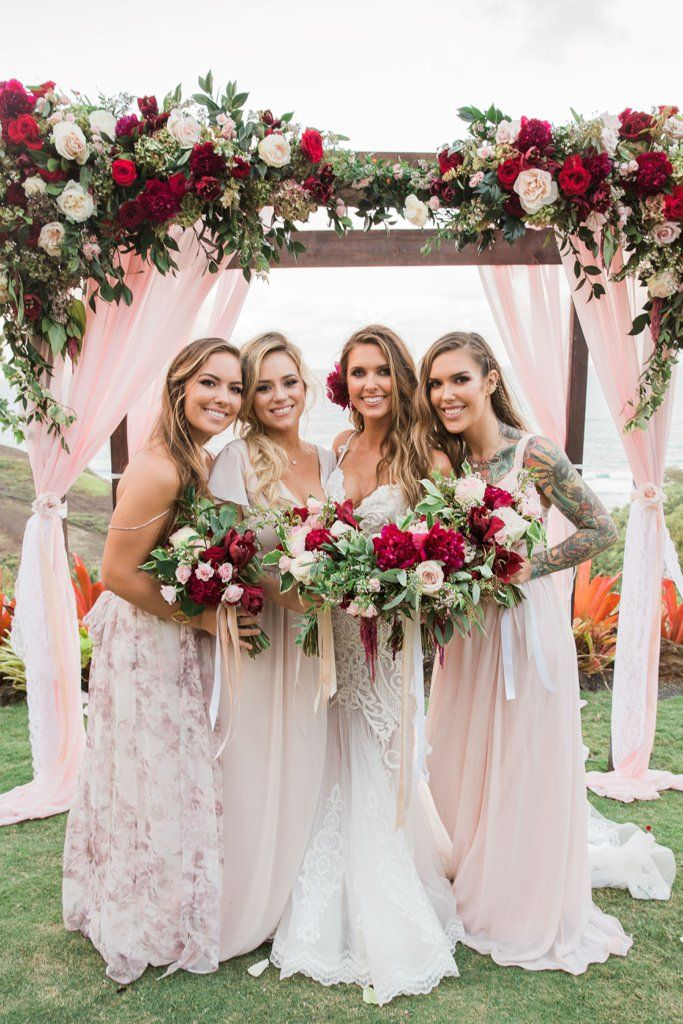 Pink Romantic Wedding - Audrina Patridge in Hawaii