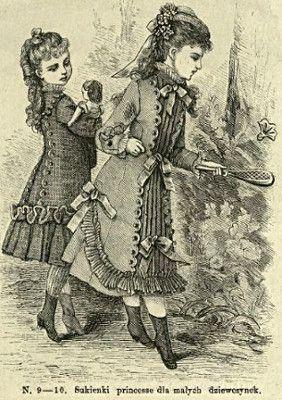 Sukienki princesse dla dziewczynek, 1877   Princesse dresses for girls, 1877