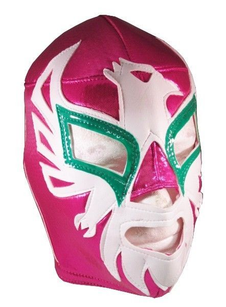 MEXICANO (pro-fit) Adult Lucha Libre Wrestling Costume Mask - Pink