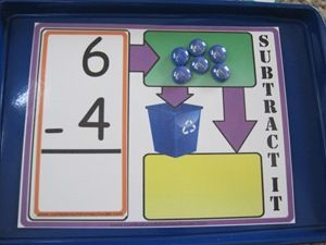 Subtraction game (free printable)