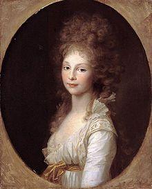 Queen Frederica of Hanover (born Frederica Louise Caroline Sophie Charlotte Alexandrine of Mecklenburg-Strelitz), 5th daughter of Charles II, Duke of Mecklenburg-Strelitz and his first wife, Frederica.