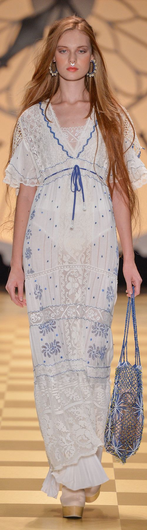 ISABELA CAPETO, SPFW, Summer 2017 RTW - Filet Lace and Filet Crochet Insertions