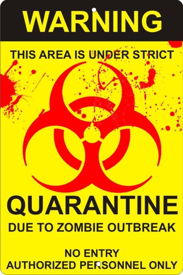 WARNING BIOHAZRD METAL Hanging Sign Brand New