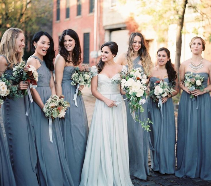 Love This Color Pallette For An Early Fall Wedding J Crew Bridesmaid Dresses Seen On