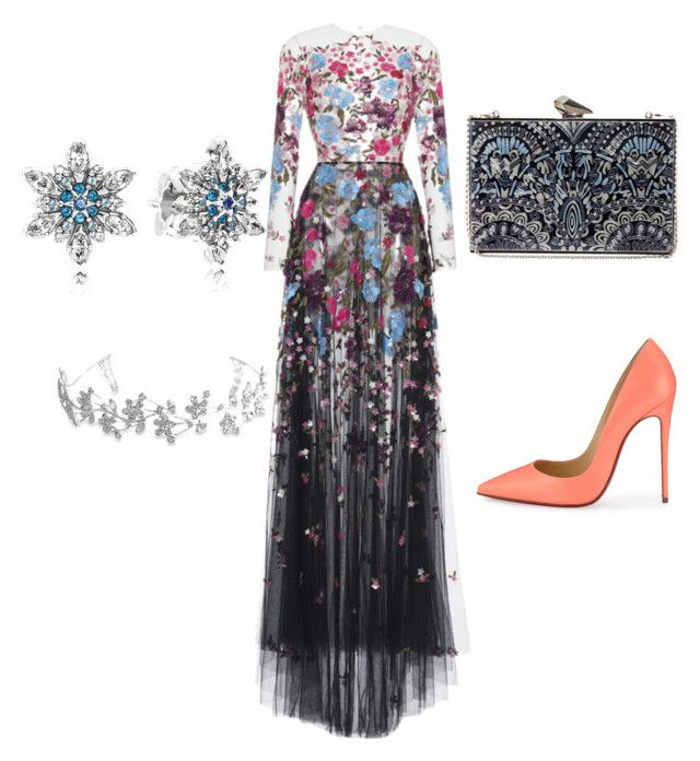 """""""My couture style by Mimi"""" by mokatsanemk on Polyvore featuring Zuhair Murad, Christian Louboutin, KOTUR, Pandora, Bling Jewelry, women's clothing, women, female, woman and misses"""