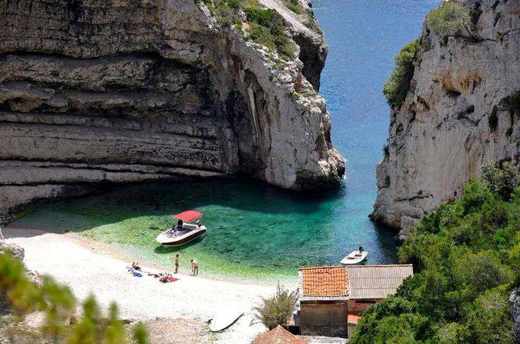 Stiniva cove, Island of Vis, Kroatia