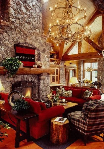 454 Best Images About Lodge Style Great Rooms On Pinterest