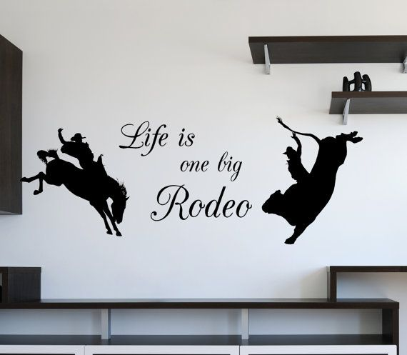 Life is a Rodeo Vinyl Wall Decal by route3studios on Etsy