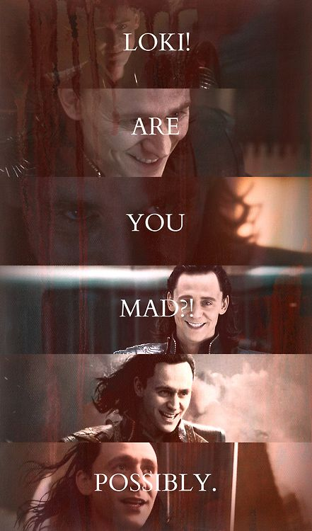 """What is life without a little risk?"" -Sirius Black  I think this quote fits Loki in Thor:The Dark World pretty well..."