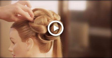Easy Wedding Upstyle With Elegant Curls