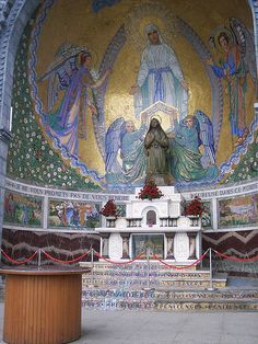 Altar of St Bernadette, Lourdes, France