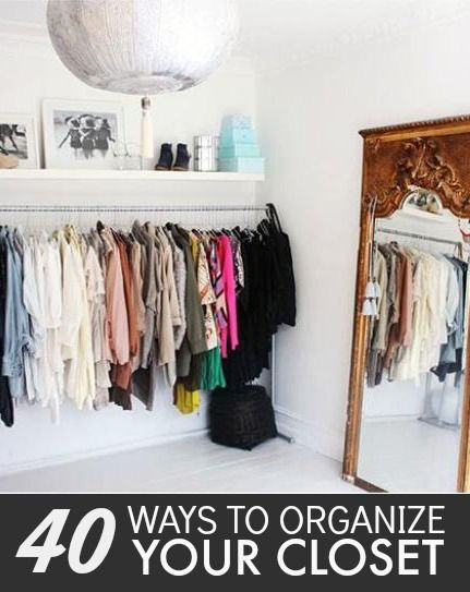 227 best closet organization images on pinterest bedroom How to organize your clothes without a closet