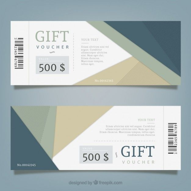 Cupão Abstract Presente. Ticket DesignGift VouchersCoupon ...