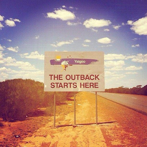 """The Outback starts here."" Yalgoo, Western Australia."