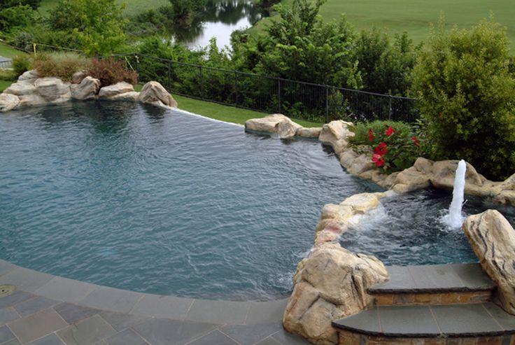 22 best vanishing edge pools images on pinterest for Pool negative edge design