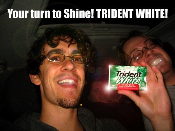 Trident White Spoof- Your turn to shine