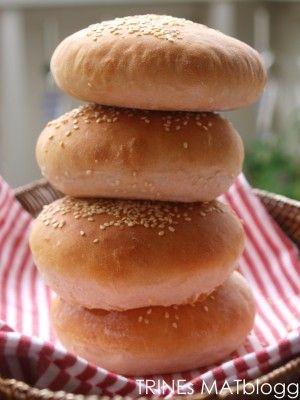 Det aller beste hamburgerbrødet | TRINEs MATblogg