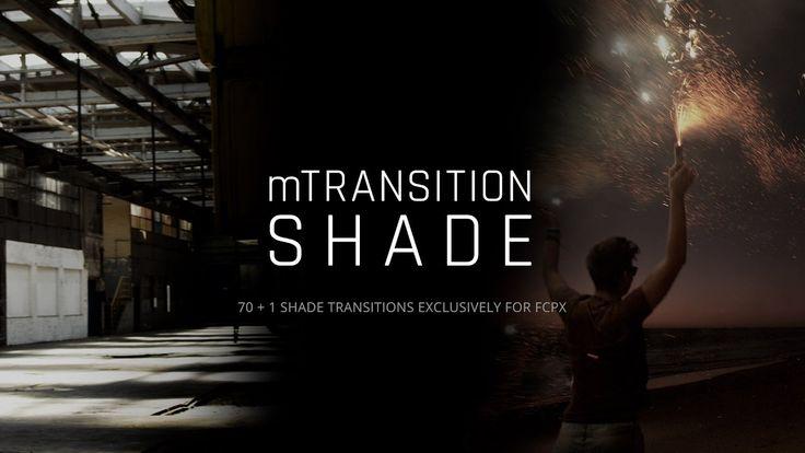 NEW #FCPX PLUGIN! Introducing mTransition Shade - https://www.motionvfx.com/mplugs-138.html #FinalCutProX #VideoEditing #Apple #Design