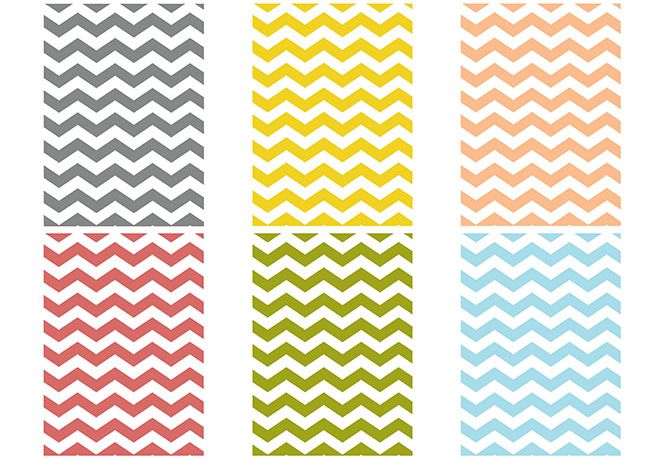 project life. free chevron printables.
