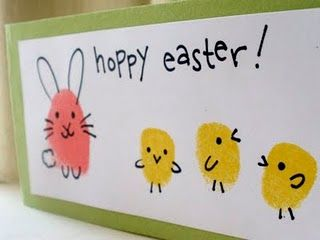 Finger print bunnies and chicks #easter
