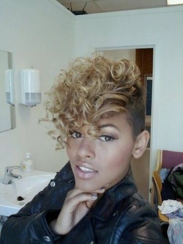 mohawk hairstyles for black women with short hair 2014