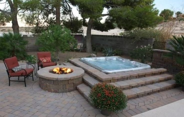 Picturesque Earthy Hot Tub Area Landscaping Ideas #outdoor ...