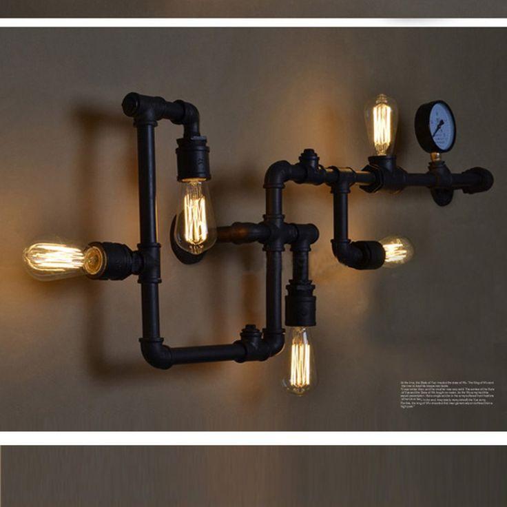 Industrial Wall Light Amazon: LSSD® Vintage Industrial Lighting Luxury Retro Pipe Indoor