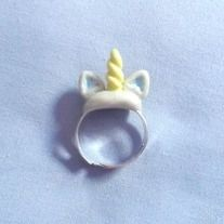 Add a little magical fun to your wardrobe with this kawaii unicorn horn ring.  This very cute unicorn horn ring is handmade out of polymer clay, and is on an adjustable ring base.  Adorable to wear with any outfit, would make a great gift for teens,preteens,or anyone who loves cute accessorie...