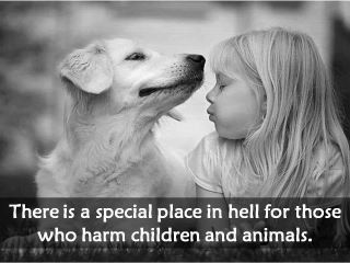 My rule of life will always be: you never harm a child, an elderly person or an animal...period!