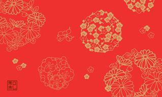 24.花の丸/染の三喜*和柄名刺*おすすめ | アイテム一覧 | 和柄名刺印刷 | 和札 - WAFUDA -