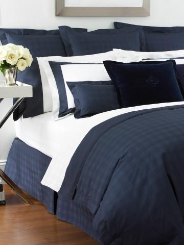 Lauren Home Navy Glen Plaid Suite