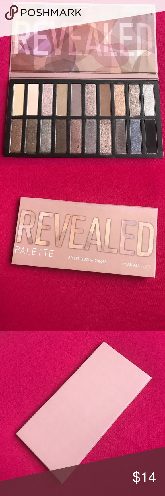 Coastal Scents Revealed Palette This item is used. Alot of product in the pan still. Good condition. No trade. Coastal Scents Makeup Eyeshadow