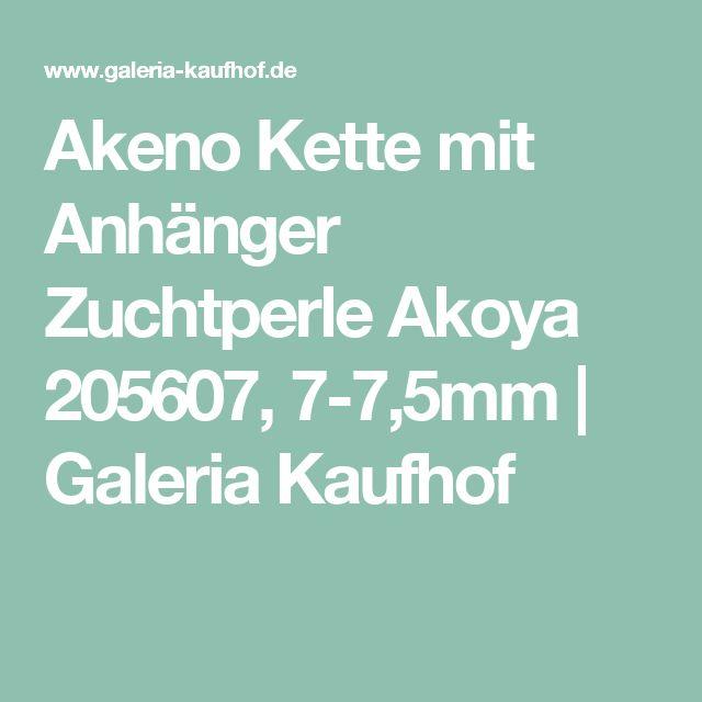 Akeno Kette mit Anhänger Zuchtperle Akoya 205607, 7-7,5mm | Galeria Kaufhof