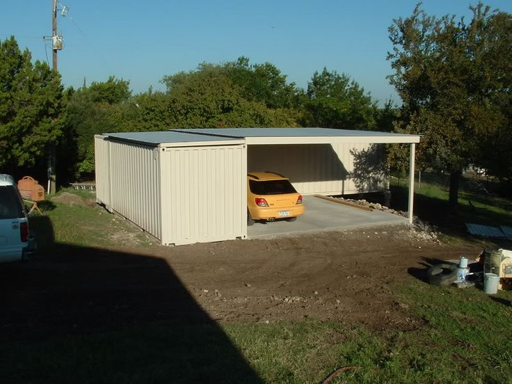 Shipping containers garage