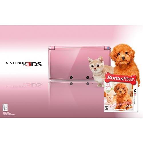 Pink Nintendo 3DS bundle with Nintendogs + Cats