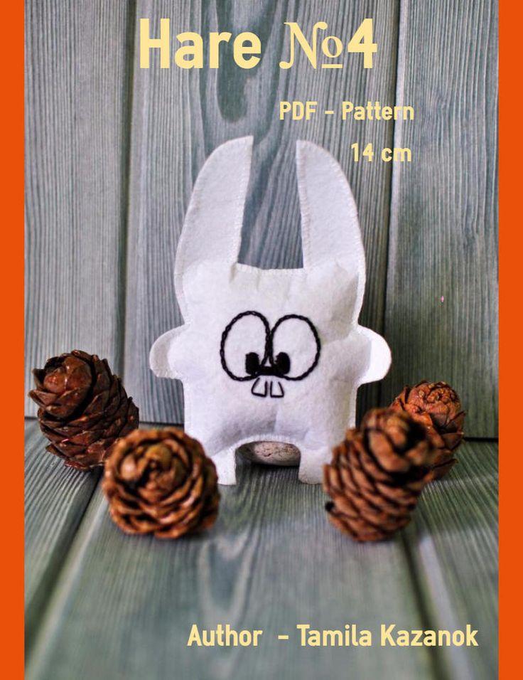 Bunny Instant Download Easy Sewing PDF Pattern/ Felt Bunny/ DIY Toy/ Stuffed Animal Bunny Softie by Tamilashki on Etsy